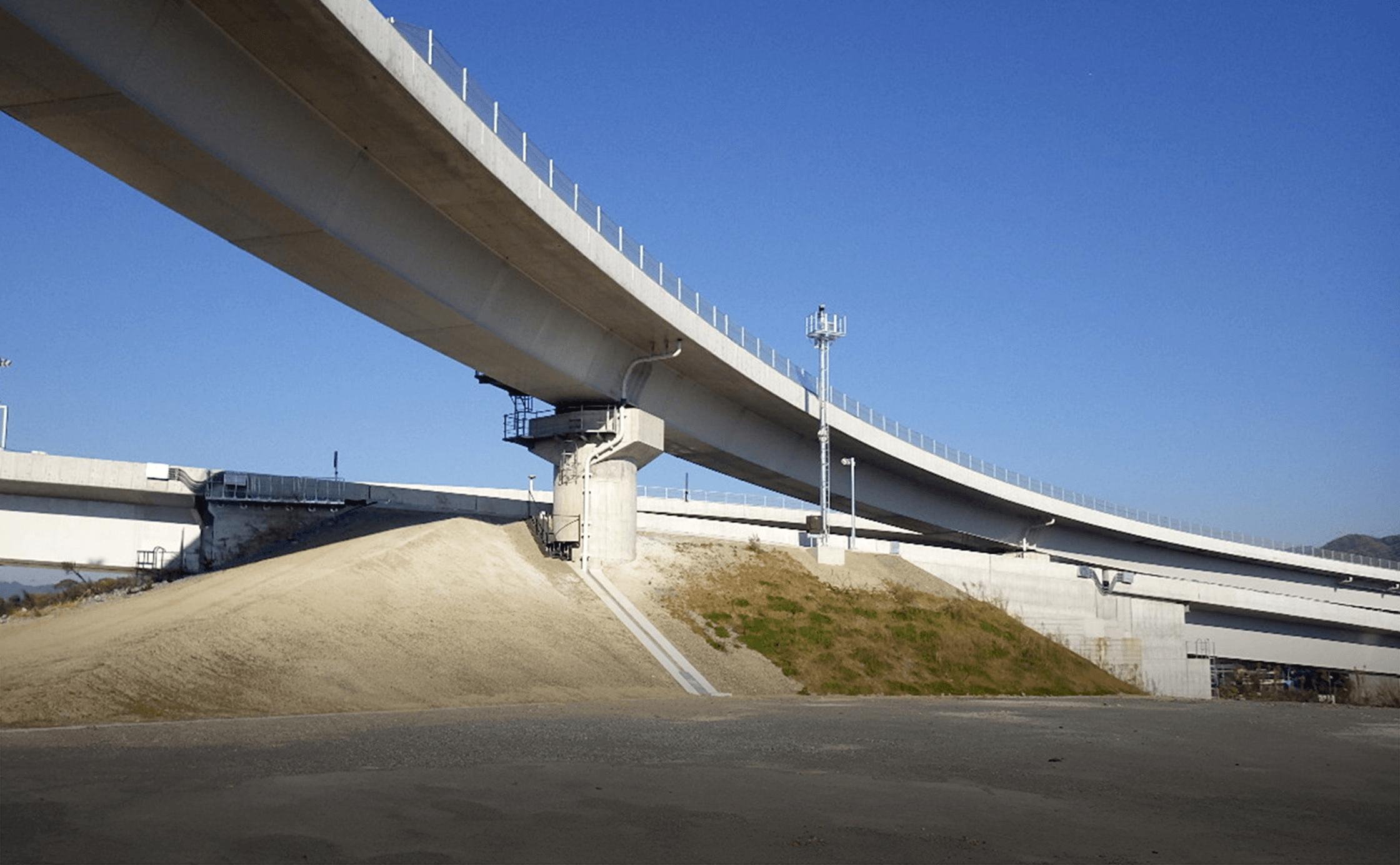 新名神高速道路高槻ジャンクション北工事